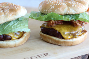 Traeger Bacon Cheese Burgers