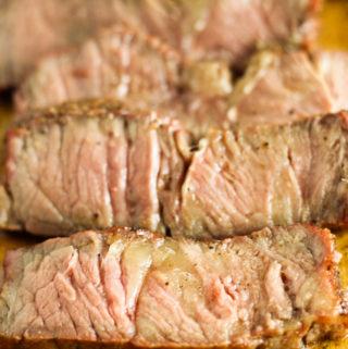 Reverse Seared Smoked New York Steaks